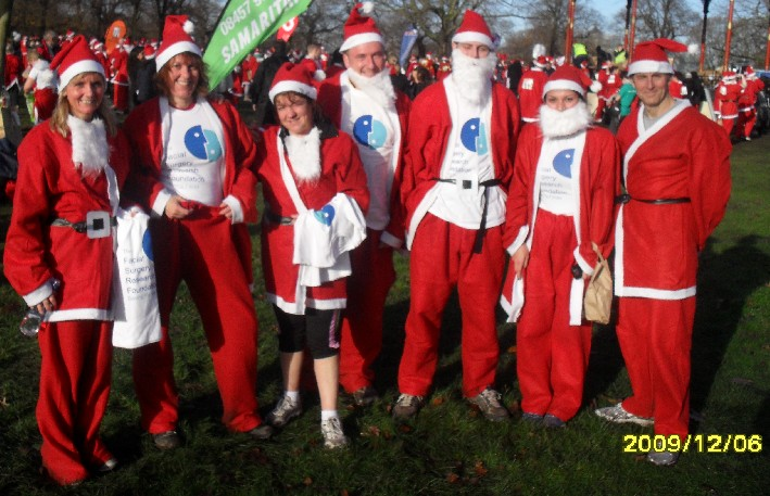 Santa Run Afeter the race