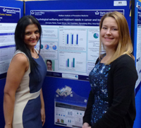 Psychology PhD students presenting their research