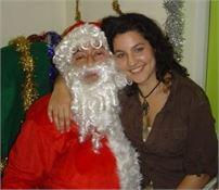 Sarah and Santa
