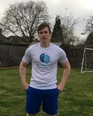 Alex Lee is running the London Marathon on behalf of Saving Faces