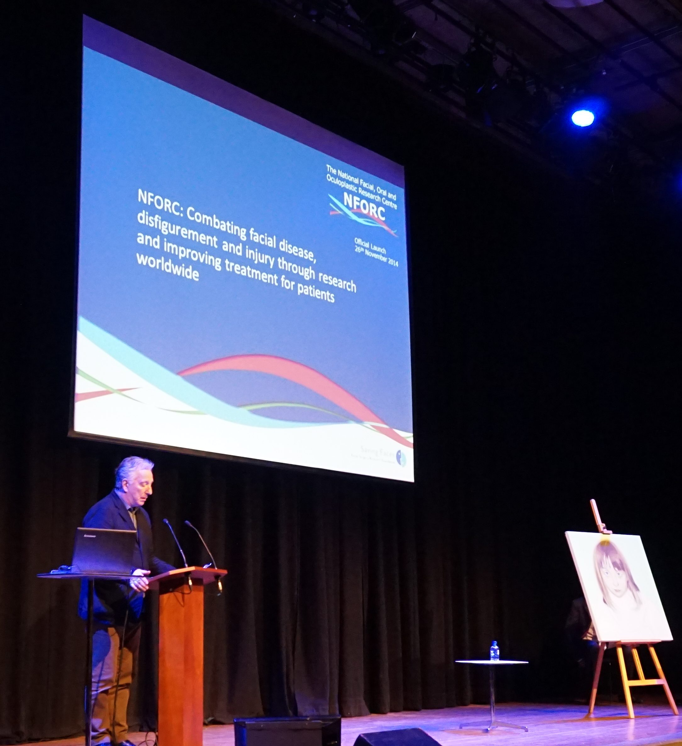 The late beloved patron Alan Rickman, opened the NFORC launch event in November 2014